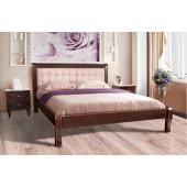 Деревянная кровать Соната с мягкой спинкой
